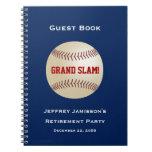 Libro de visitas del fiesta de retiro, béisbol, libretas