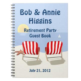 Libro de visitas del fiesta de retiro de la silla  libros de apuntes