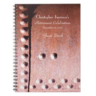 Libro de visitas del fiesta de retiro, falso metal libro de apuntes