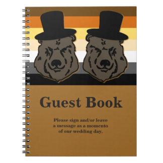 Libro de visitas del orgullo del oso para un boda libros de apuntes con espiral
