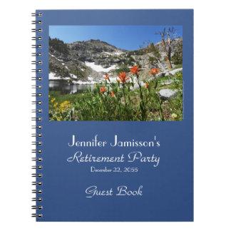 Libro de visitas del retiro, Wildflowers del lago Libros De Apuntes