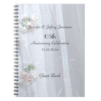 Libro de visitas elegante de la fiesta de spiral notebook
