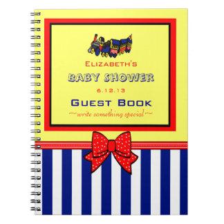 Libro de visitas lindo de la ducha del Tren-Bebé Libros De Apuntes Con Espiral