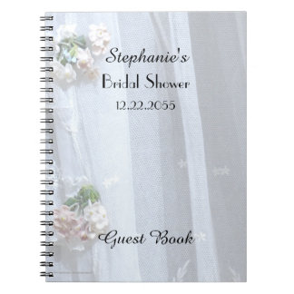 Libro de visitas nupcial de la ducha, cordón del libro de apuntes