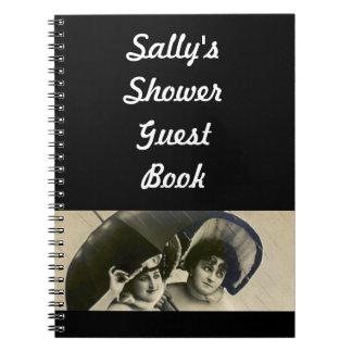 Libro de visitas nupcial del consejo de la ducha d libro de apuntes con espiral