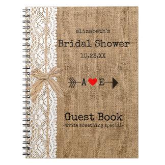 Libro de visitas nupcial el   de la ducha de la spiral notebooks