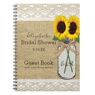 Libro de visitas nupcial el | de la ducha del libretas espirales