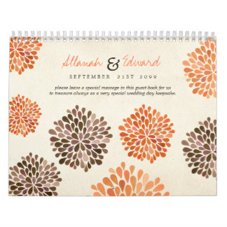 Libro de visitas personalizado boda de la foto del calendario