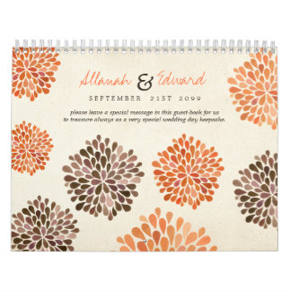 Libro de visitas personalizado boda de la foto del calendarios