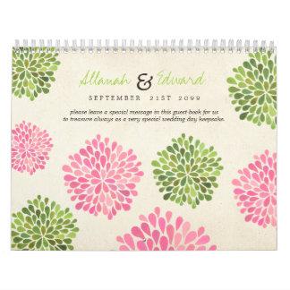 Libro de visitas personalizado boda único de la calendarios de pared