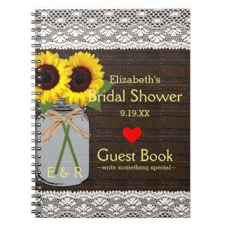 Libro de visitas rústico el | de la ducha de los cuadernos