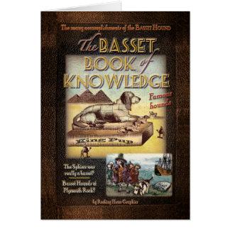 Libro del afloramiento del conocimiento tarjeta de felicitación