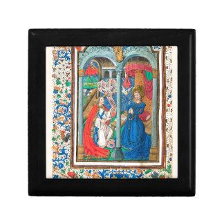 Libro del arte del manuscrito iluminado de las cajas de regalo