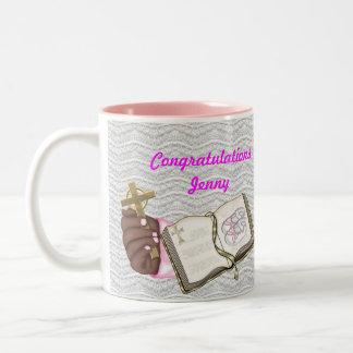 Libro del bautizo de los chicas taza de café