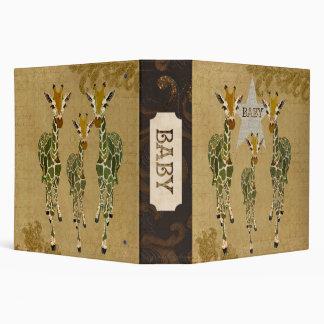 """Libro del bebé de las jirafas del jade y del oro carpeta 2"""""""