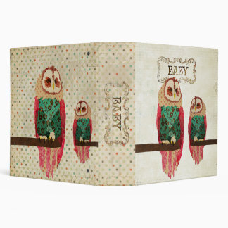 """Libro del bebé de los búhos del vintage de Rosa Carpeta 2"""""""