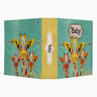 "Libro del bebé de tres jirafas que mira a escondid carpeta 2"""