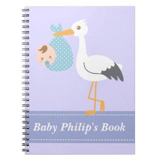 Libro del bebé - la cigüeña entrega al bebé cuaderno