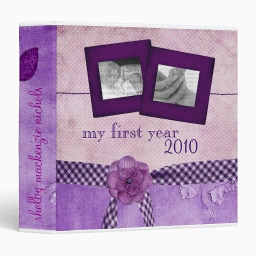"""Libro del bebé: Mi primer año Carpeta 1 1/2"""""""