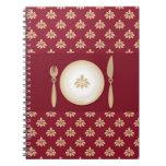 libro del cocinero del vintage libros de apuntes con espiral