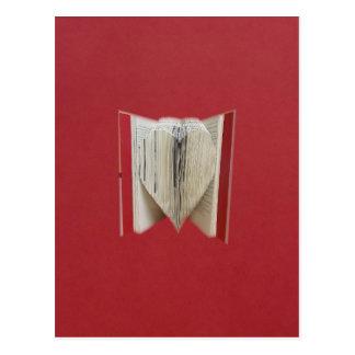 Libro del corazón del amor postal