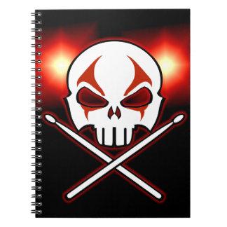 Libro del diario del batería del metal del cuadern libretas
