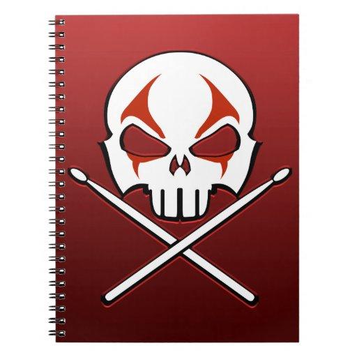 Libro del diario del batería del metal del cuadern libretas espirales