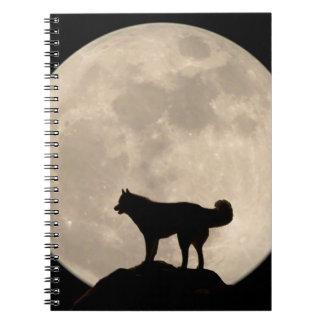 Libro del diario del husky siberiano del cuaderno