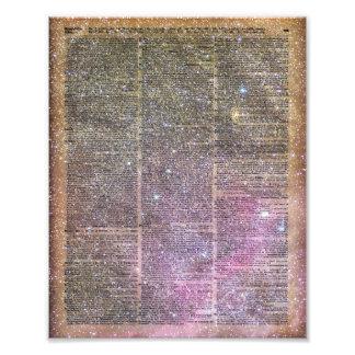 Libro del diccionario del espacio del vintage fotografía