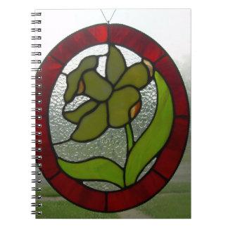 Libro del espacio en blanco del vitral del narciso spiral notebook