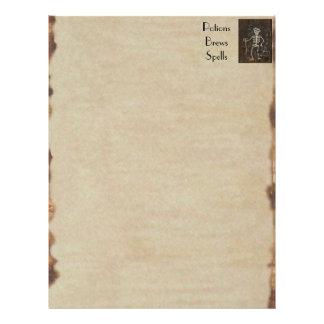 """Libro del esqueleto antiguo fantasmagórico del BOS Folleto 8.5"""" X 11"""""""