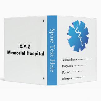 """Libro del informe médico del paciente azul carpeta 1"""""""
