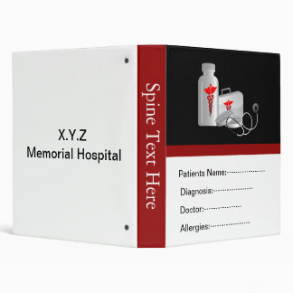 """libro del informe médico del paciente rojo carpeta 1"""""""
