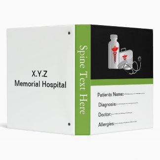 """libro del informe médico del paciente verde carpeta 1"""""""