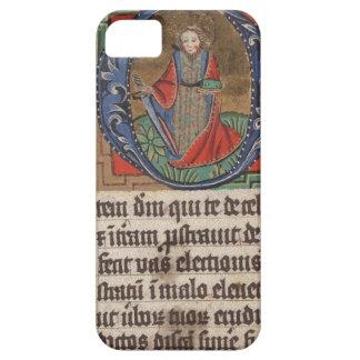Libro del manuscrito iluminado medieval de las hor iPhone 5 protector