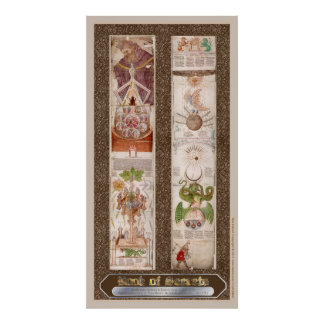 "Libro del poster de la alquimia de ""Visio Mystica"" Póster"