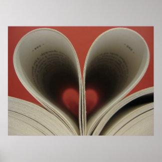 Libro del poster de los corazones