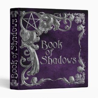 Libro del punto culminante de plata púrpura de las