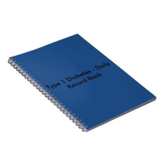 Libro del registro diario de la diabetes del tipo libreta espiral