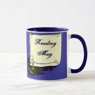 Libro del vintage de la taza de la lectura con la