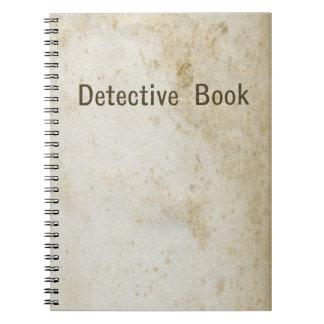 Libro detective libro de apuntes con espiral
