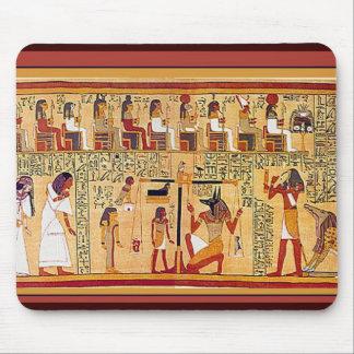 Libro egipcio antiguo de los muertos tapete de ratones