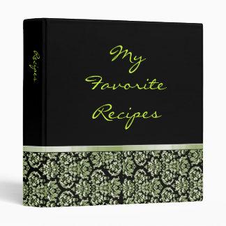 Libro esmeralda de la receta de la cinta del damas