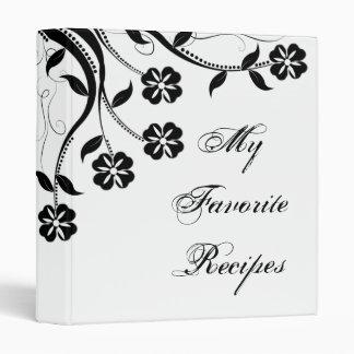 Libro floral de la receta del remolino del ónix