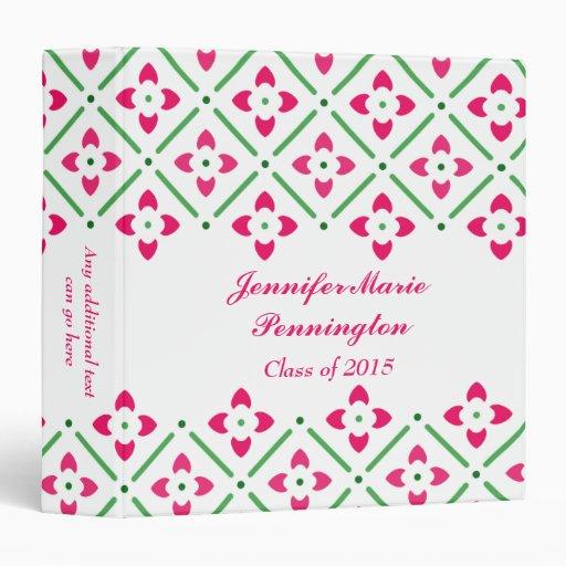 Libro floral de moda elegante rosado de la memoria