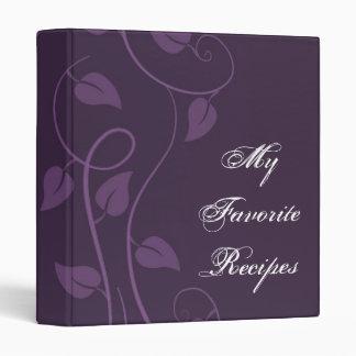 Libro frondoso Amethyst de la receta del remolino