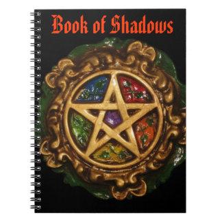 Libro gótico de oro de sombras cuaderno