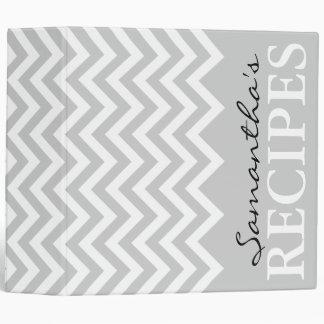 Libro gris de la carpeta de la receta del modelo d