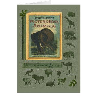 Libro ilustrado de la tarjeta de felicitación de l