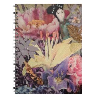 Libro inspirado asiático de la foto note book